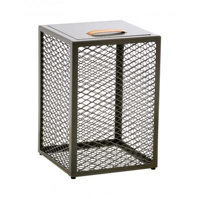 Beistelltisch / Schemel / Aufbewahrungskiste The Cube | Olivgrün