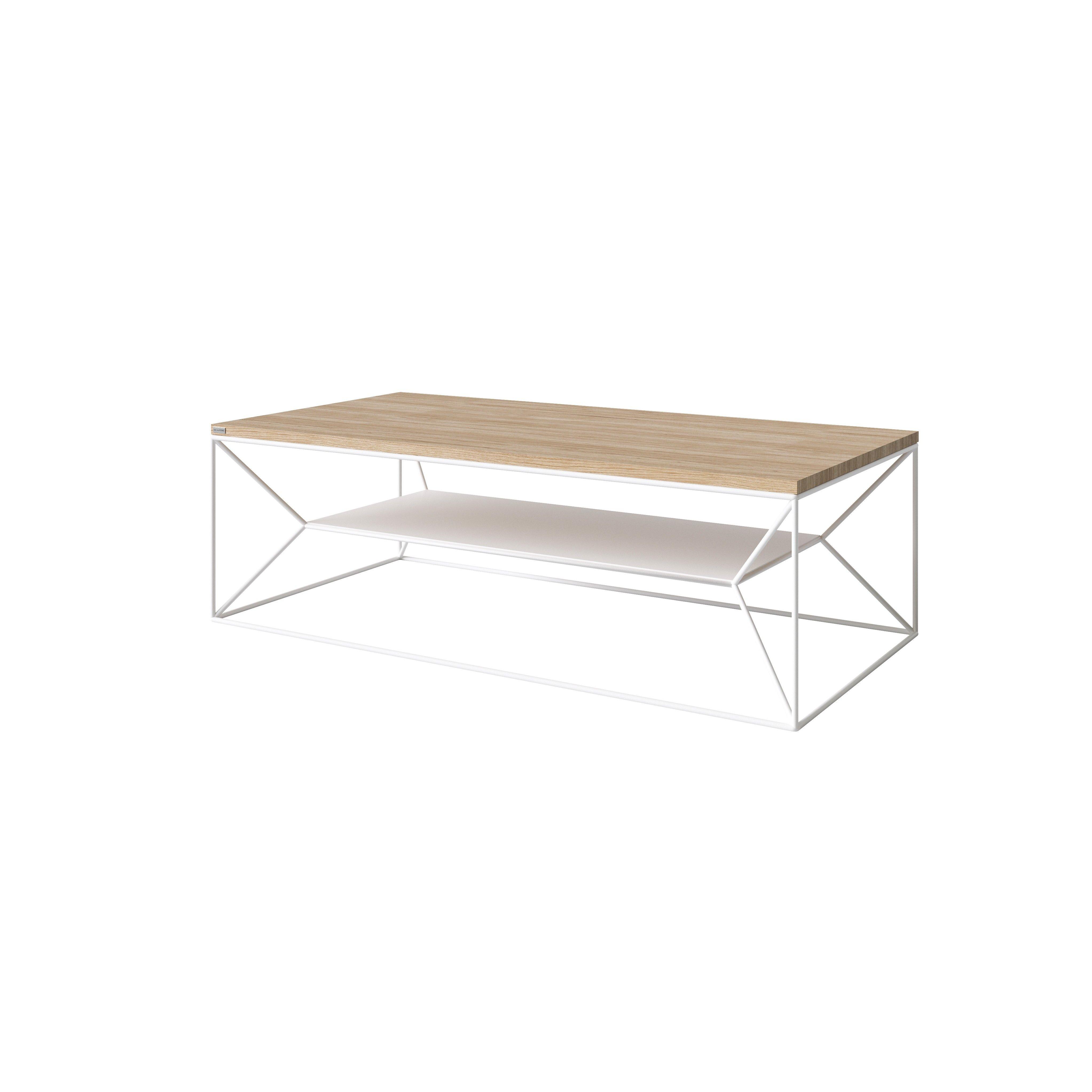MAXIMO Coffee Table | White Matt & Oak