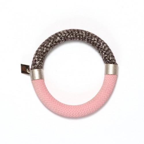 Mae Bracelet Raspberry-Grey