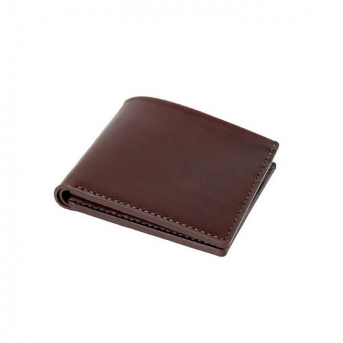 Open Billfold Wallet   Ox Blood Horween Chromexcel Leather