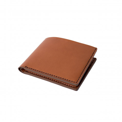 Open Billfold Wallet   Tan Wicket & Craig English Bridle Leather