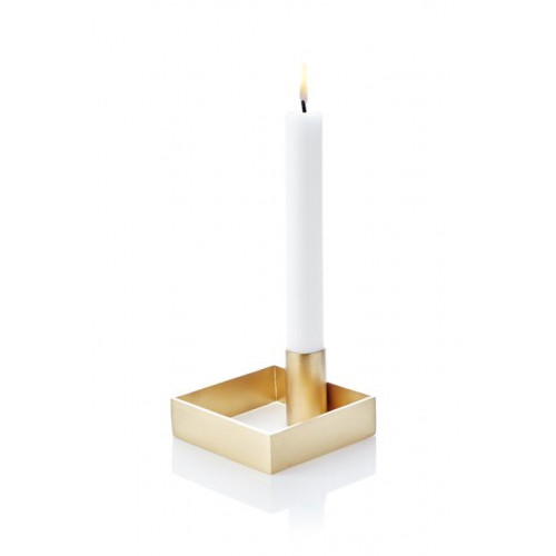 Candle Holder Edge   Brass