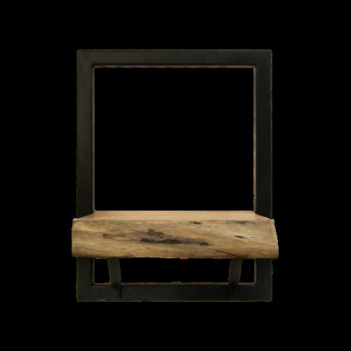 Wall Shelf Levels Live Edge 25x32 cm Acacia Wood