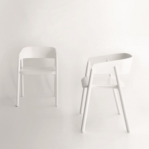 Mava Chair | White Lacquered