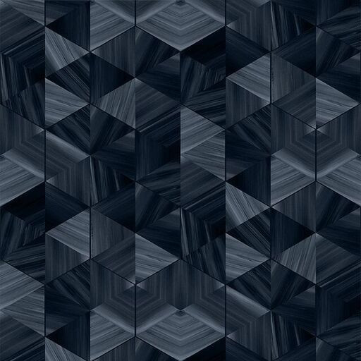 Wallpaper Marble Hexagon | Slate Noire
