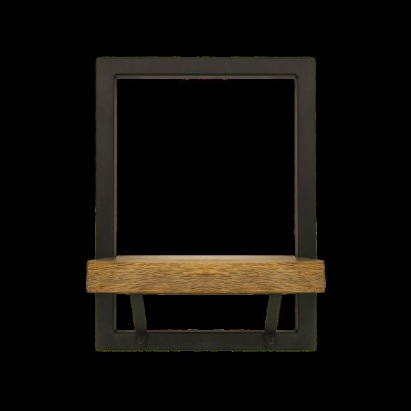 Wall Shelf Levels 25x32 cm Mango Wood