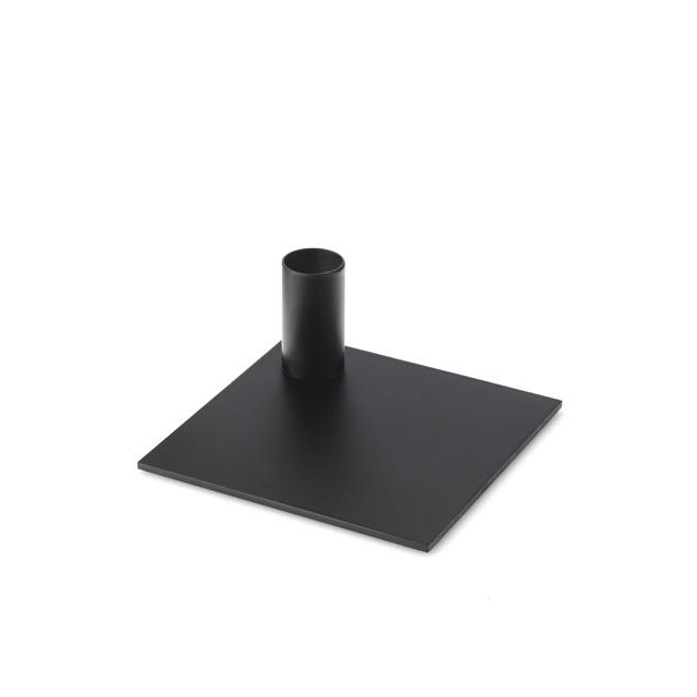 Kerzenständer Quadrat   Schwarz