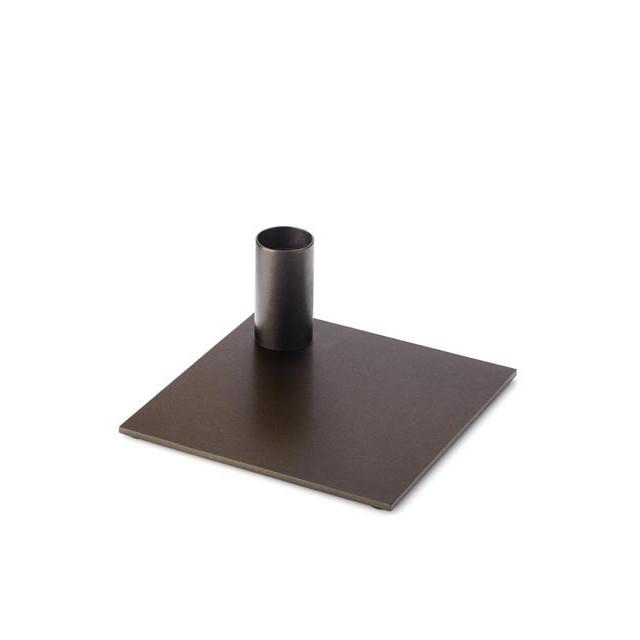 Candle Holder Square | Dark Bronze
