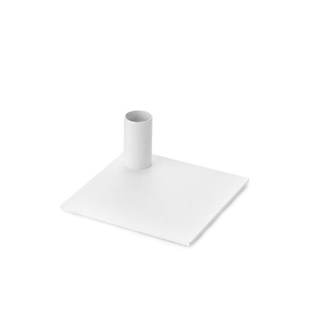 Kerzenhalter quadratisch | Weiß