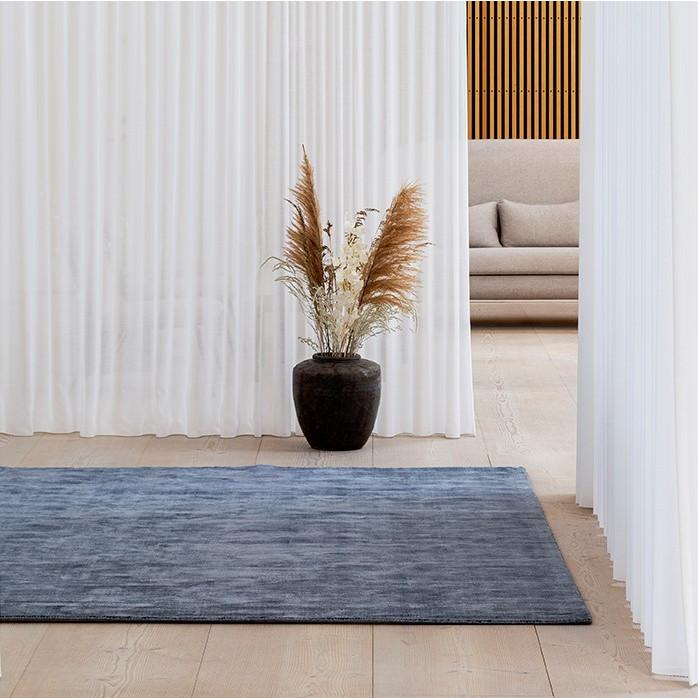 Teppich Karma | Blau gewaschen