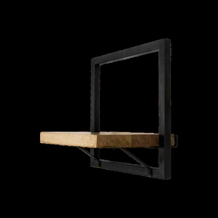 Wall Shelf Levels 32x32 cm Mango Wood