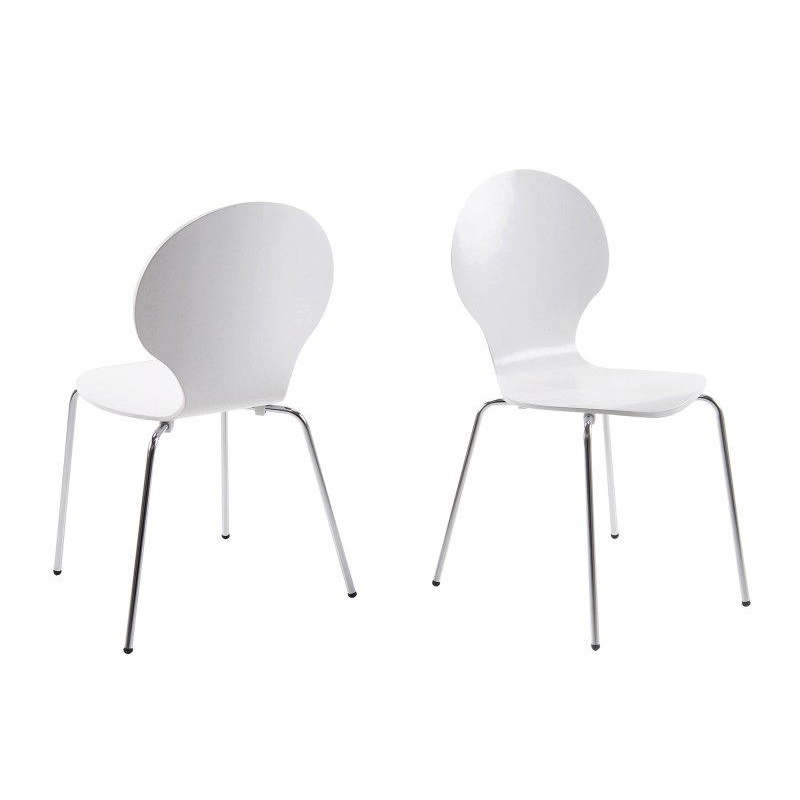 Set of 4 Dining Chairs Marcus | White