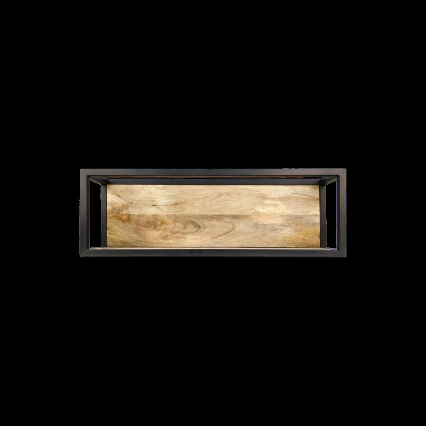 Wandregal Levels mit natürlicher Kante 75x25 cm Mango-Holz