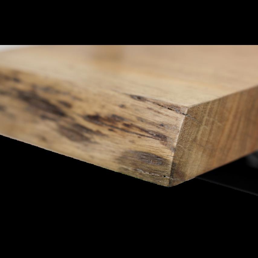 Wall Shelf Levels Live Edge 25x70 cm Acacia Wood