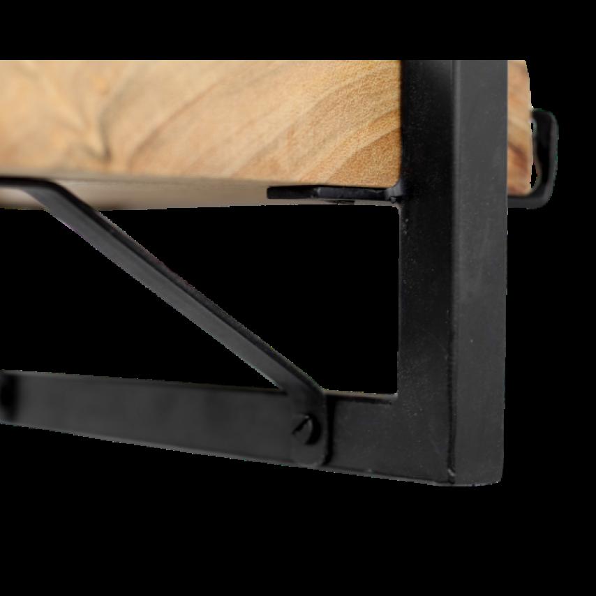 Wall Shelf Levels Live Edge 70x32 cm Acacia Wood