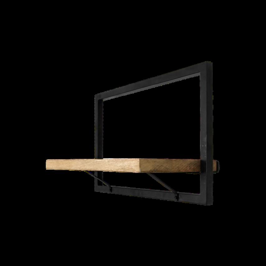 Wall Shelf Levels 51x32 cm Mango Wood