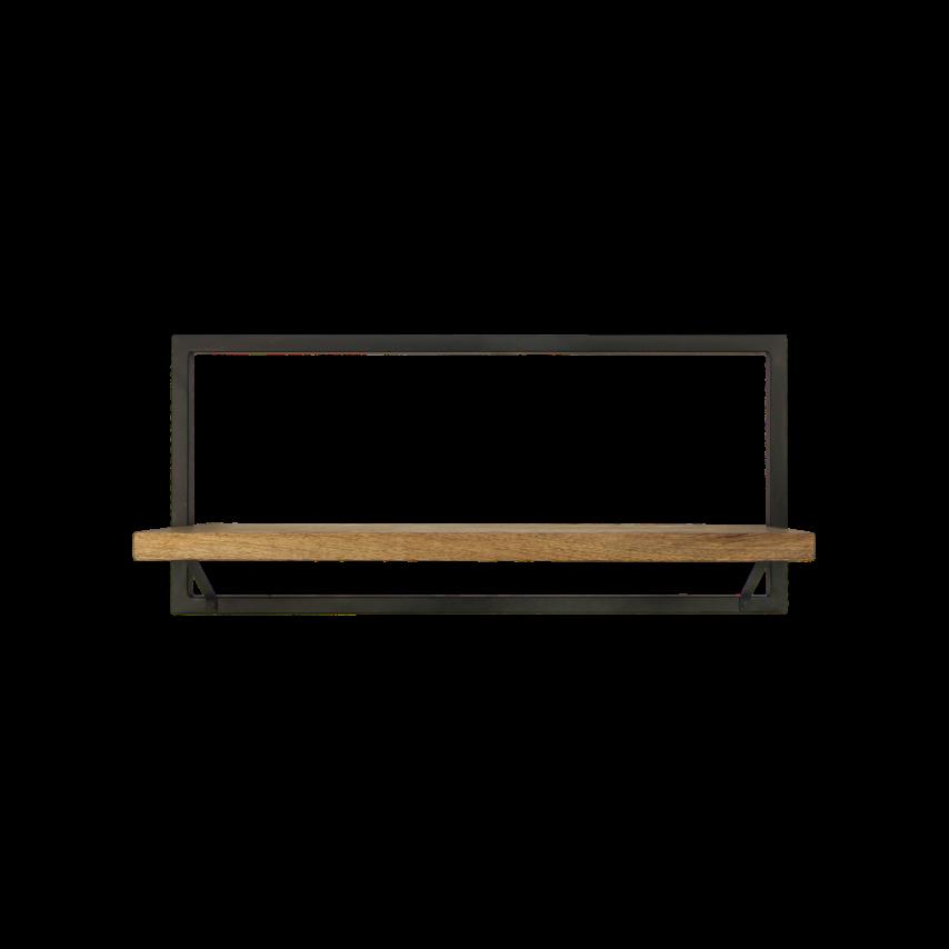 Wall Shelf Levels 70x32 cm Mango Wood