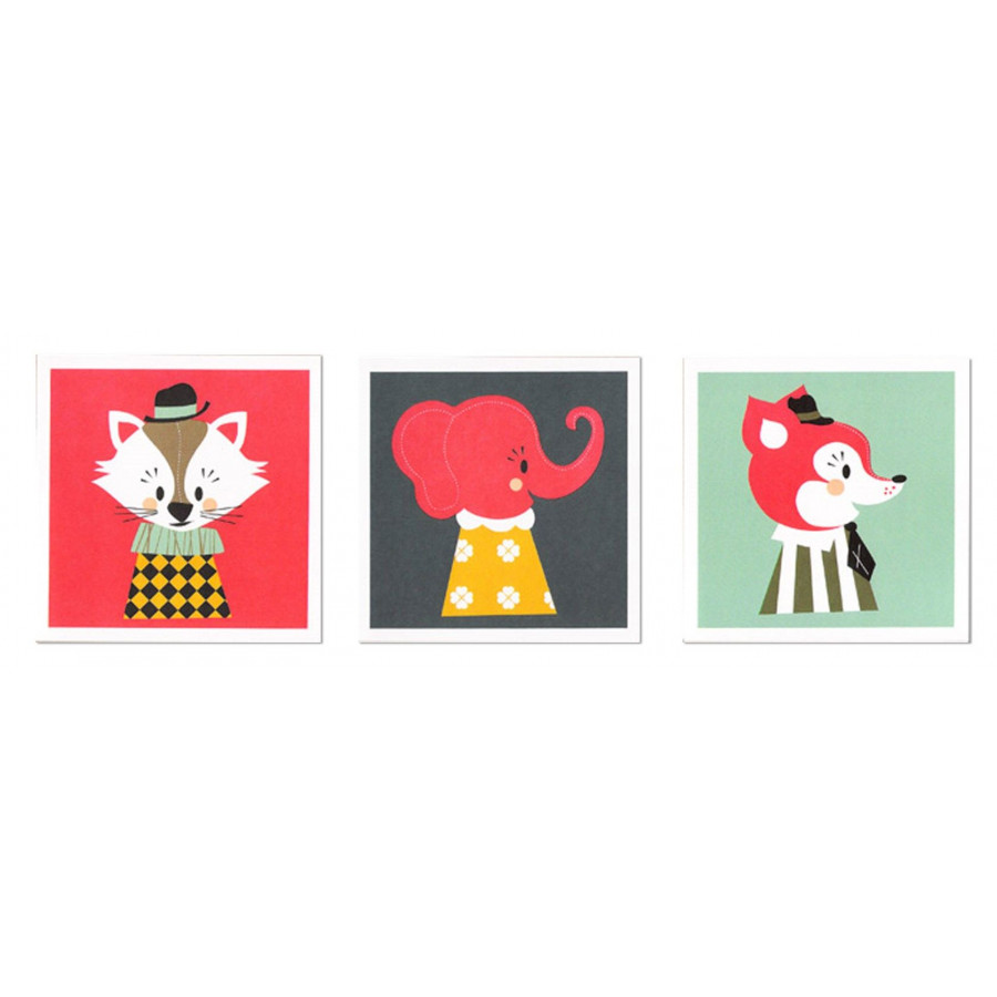 Set of 3 Marionette Greeting Cards