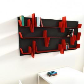 Battikuore Shelves Medium White/Red - 2 Shelves
