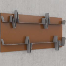 Battikuore Shelves Large Russet/Grey - 2 Shelves
