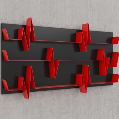 Battikuore-Regale Großes Schwarz/Rot - 3 Regale