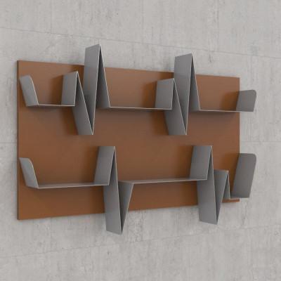 Battikuore-Regalböden Medium Russet/Grau - 2 Regale