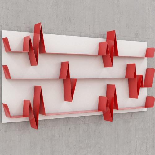 Battikuore Shelves Large White/Red - 3 Shelves