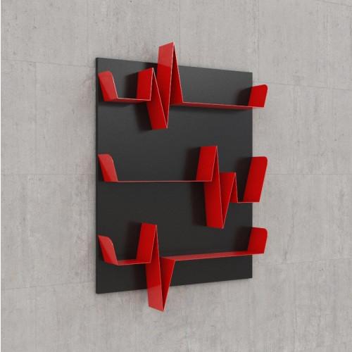 Battikuore Shelves Small Black/Red - 3 Shelves