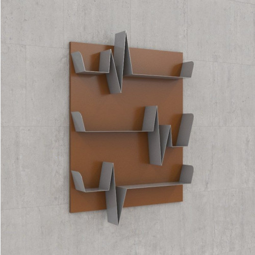 Battikuore Shelves Small Russet/Grey - 3 Shelves