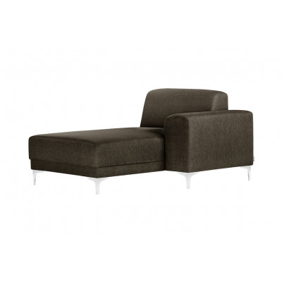 Lounge-Sofa Rechts Allegra   Haselnussbraun