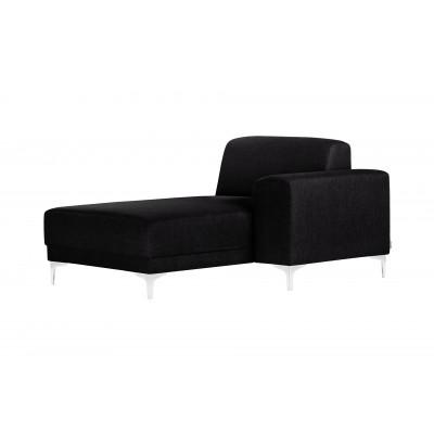 Lounge-Sofa Rechts Allegra   Schwarz