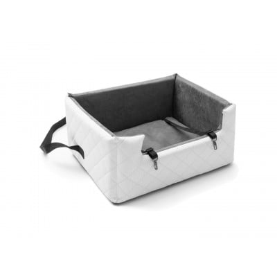 Autositz für Haustiere XL | Weiß