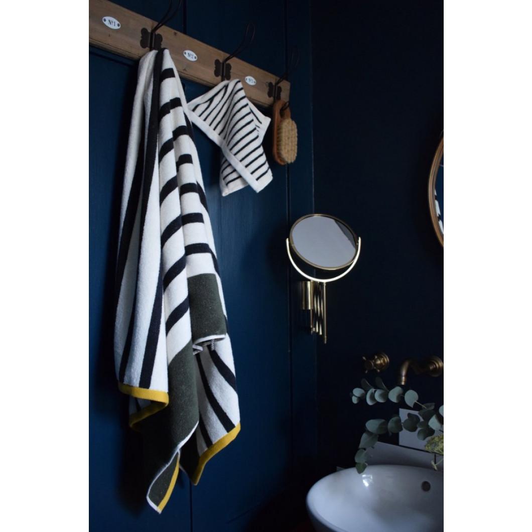 Lave-linge BOUDOIR | Large rayure noir et blanc