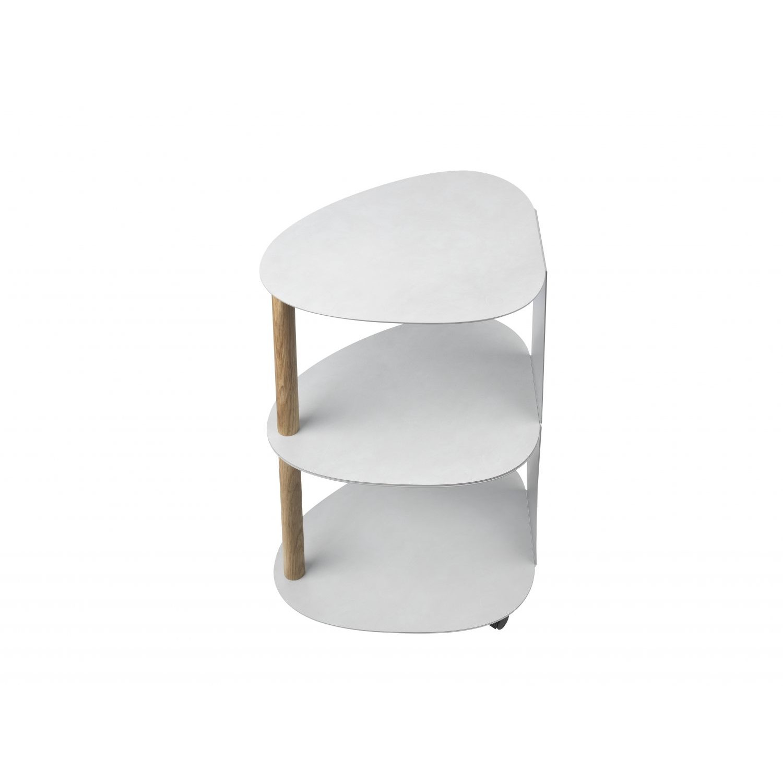 Curve Table Double   Metallic