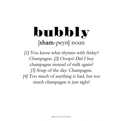 Poster Definition   Bubbly