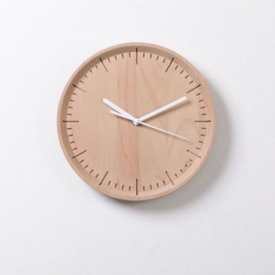 Meter Wall Clock   White