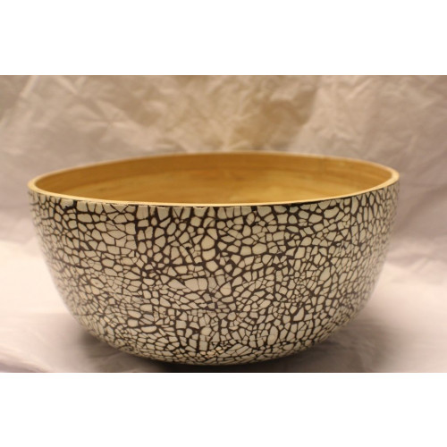 Bamboo Eggshell Salad Bowl Medium