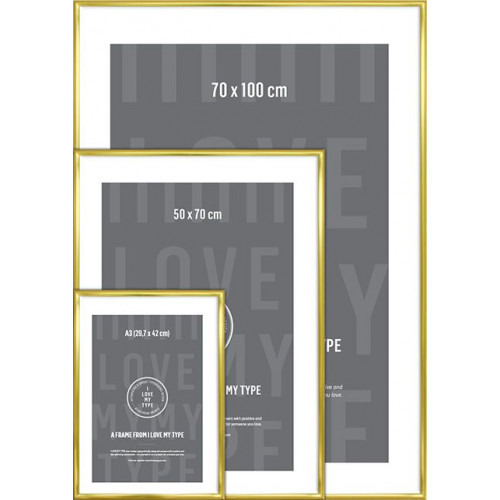 Aluminium Frame | Brass-A3