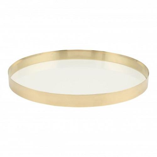 Brass Tray | White Glass