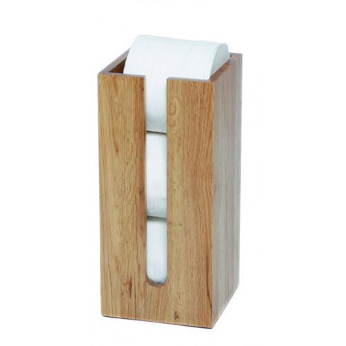 Toilet Roll Holder Mezza   Light Wood
