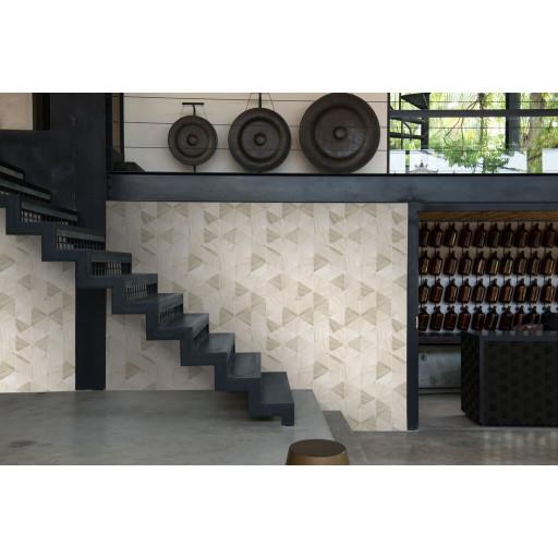 Wallpaper Marble Hexagon | Silver Grey