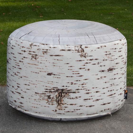 Birch Stump Pouf Outdoor