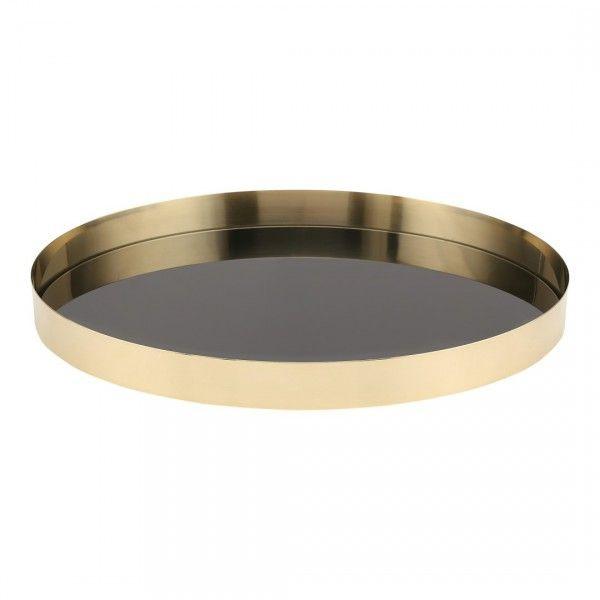 Brass Tray | Black Glass