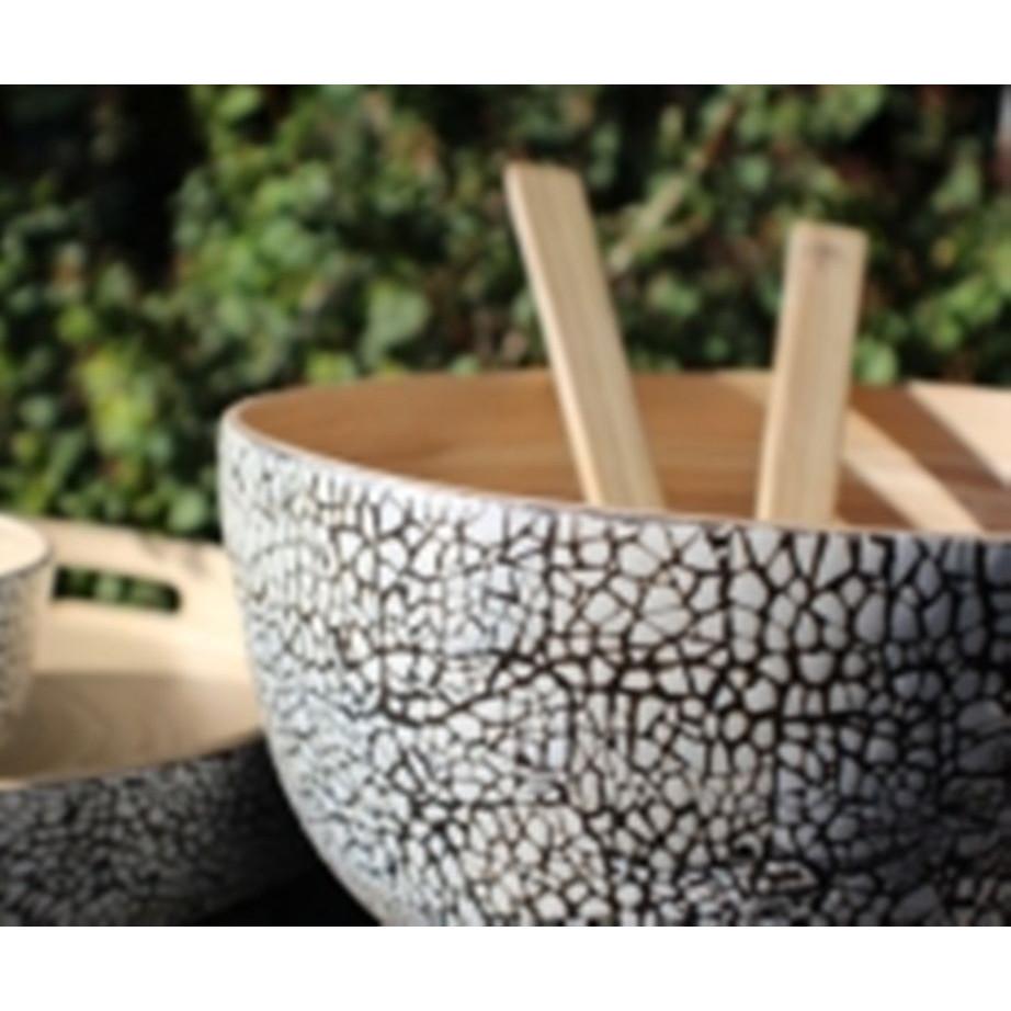 Bamboo Slakom met eierschaal Medium