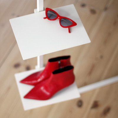 Planke für Garderobenständer | Weiß