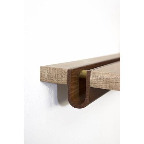 Oak Shelf U Shape 90cm