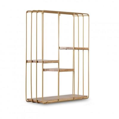 Wandregal Quadratisch Cadiz | Gold