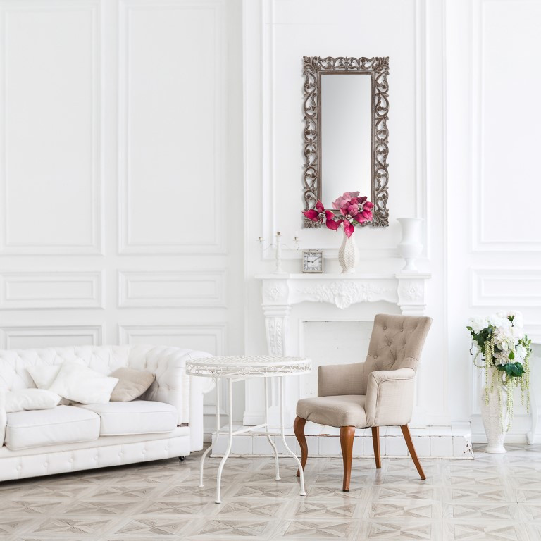 Carved Mirror Passo | Grey
