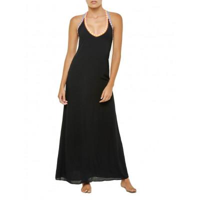 Stitched Long Dress | Black