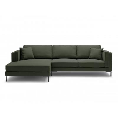 5-Sitzer Ecksofa Links Attilio | Grün